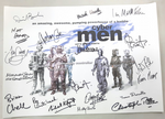 Cyberman, 'Let's Invade Earth', A3 Poster 18 Genuine Autographs, rare